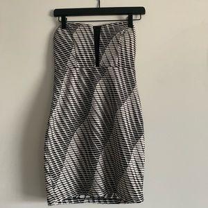 Trixxi - Black & White Mini Dress.